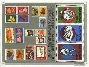 Surinam Bloque 27 (edición completa) nuevo 1980 independencia