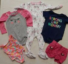 Toddler Girl's Size 18 month Clothing (5-pc) Lot - Sleeper, T-Shirt, Swimsuit