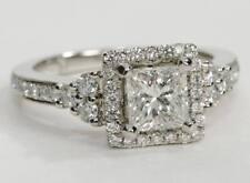 Princess Very Good Cut Not Enhanced Fine Diamond Rings