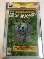 Spider-Man (1992) # 26 (CGC 9.8 SS) | Holo Signed & Sketch By Sam De La Rosa