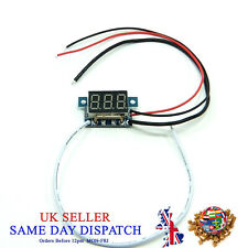 "0.36"" Ammeter 0-9.99A DC 5-30V LED Blue Ampere Meter Digital Amp"