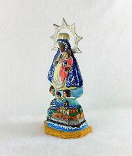 Statuette Vierge attibuts marins Notre-Dame Rocamadour Quebec Papier mâché