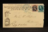New Hampshire: Laconia 1870s With Mountain Ice Cream Freezer Advertising Cover