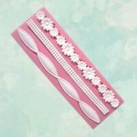 Baking Tool Pink Mold Craft Sugar Fondant Lace Silicone Mat Decorating Mould