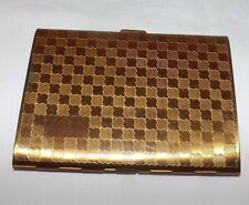 Vintage LIDO Gold Metal CIGARETTE CASE Box