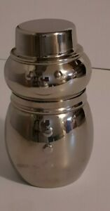 Snowman Cocktail Martini Drink Shaker Mixer Stainless Steel Christmas Holiday
