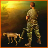 1/35 Resin Figure Model Kit Vietnam War US Soldier And Dog Unpainted Unassembled