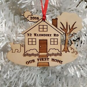 Our First Home Christmas Ornament - Dog, Cat, Name,Year w/ Gift Box