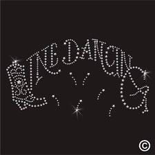 Línea de baile de diamantes de imitación Diamante Cristal Adorno transferencia ironon Hotfix Apliques Gem