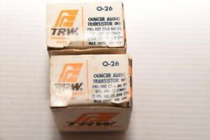 NOS lot of 2 -  TRW  0-26 O-26 Ouncer AUDIO Transistor Interstage Transformer