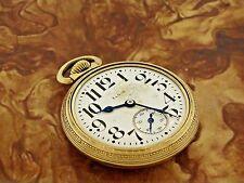 Antique Estate 1918 Elgin Railroad 10K Gold Filled Men's Pocket Watch Hand Wind