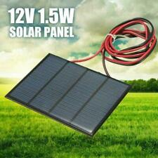 1.5W 12V Mini Power Solar Panel Small Cell Phone Module DIY Wire Charger W/ H2W9