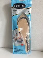 Corrby 3 Pair Leather Shoe Inserts Sz 36 6US Ortho Soft Medi Line Beige