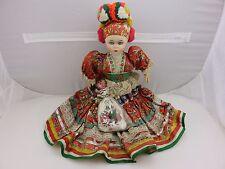 """Judit Folklor 22"""" High Hungary Hungarian Paprika Doll Moving Eyes Vintage"""