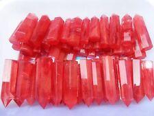 2lb TOP!!! AAAA++++ Red SMELT QUARTZ CRYSTAL WAND POINT HEALING 15-20pcs 70-85mm