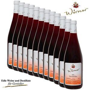 Dornfelder Rotwein lieblich 12 x 1L WEINGUT WÖRNER Wein aus der Pfalz