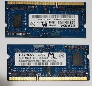 4GB Elpida 2x2GB SO-DIMM 1600 MHz PC3-12800 DDR3 Memory (EBJ20UF8BDU0-GN-F)
