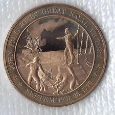 +1779  John Paul Jones: GREAT NAVAL VICTORY - Solid Bronze Medal - Uncirculated