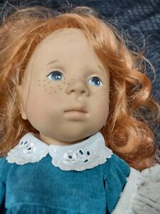 GOTZ DOLL SYLVIA NATTERER VINYL RED ROOTED HAIR FANOUCHE AND HER FRIENDS 1989