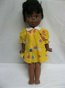 "EGEE Doll African American 18""  stands up Original dress Vintage"