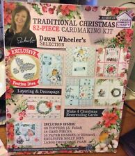 Traditional Christmas 82 Piece Card making Kit Brand New