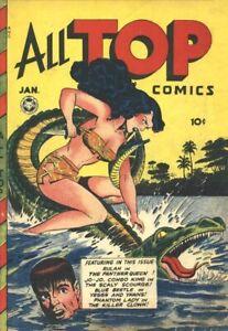 All Top Comics #9 Photocopy Comic Book, Blue Beetle, Phantom Lady