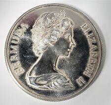 World Coins Bermuda 1972 Silver Dollar, 0.500 Silver Wt 28.28 grams 1 Oz.