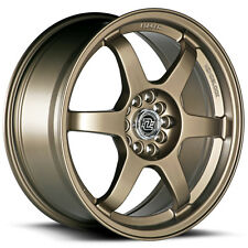 4-NEW Drag Concepts R24 17x7.5 5x100/5x114.3 +40mm Satin Bronze Wheels Rims