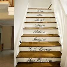 Love Dream Laugh Wall Stickers Bedroom Removable Decals Stair Riser Vinyl DIY