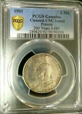 1901A GERMANY 2M PRUSSIA - BICENTENNIAL 200 Yrs PCGS UNC DETAILS