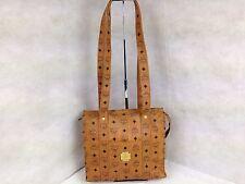 Authentic MCM Logo Pattern PVC Brown Shoulder Bag 5G070090#