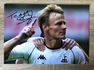 Teddy Sheringham Tottenham Signed Photo Football