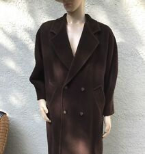 MAX MARA MAXMARA ITALY brown wool/mohair/cashmere long overcoat pea coat . US 6