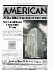 1933 American Sheet and Tin Plate Co. Apollo Galvanized Steel Vtg Print Ad