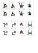 Kids Potty Training Visual Routine Chart Non Verbal Toddlers SEN Autism Children