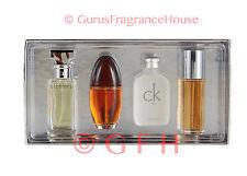 Calvin Klein Womens 4 Piece Giftset 0.5oz 15ml EDP Mini Perfumes Escape Eternity