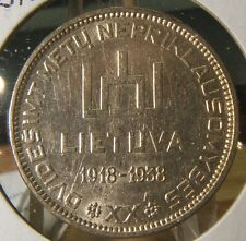 1938~~LITHUANIA~~SILVER 10 LITU~~BU-UNC BEAUTY~~SCARCE
