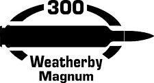 300 Weatherby Mag  gun Rifle Ammunition Bullet exterior oval decal sticker car
