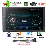 "Android 9.0 Universal Double Din 7"" Auto Car Stereo GPS Nav WIFI 4G DAB+Radio BT"