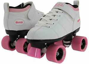Chicago Bullet Ladies Speed Roller Skate – White Size 3