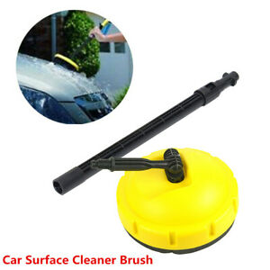 Yellow Rotable Pressure Washer Car Floor Wall Patio Surface Cleaner Brush Kit
