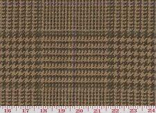 100% Wool Brown Upholstery Fabric Ralph Lauren R$152yd Vinebrook Glen Plaid Twig