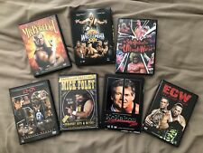 WWE WWF ECW Wrestling Wrestlemania 25 Lot DVDs McMahon Foley Triple HHH Big Show