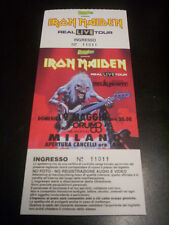 "IRON MAIDEN ""REAL LIVE"" 9.5.93 MILANO ITALY - CONCERT TICKET/BIGLIETTO CONCERTO"
