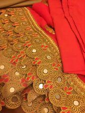 Women's Sari Saree Wedding Reddish-Pink