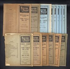 Lot Of 14 Boston & Maine Railroad Employee Time Tables & Rule Booklets 1918-1927