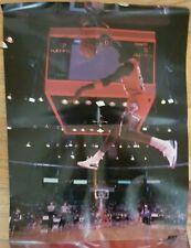 Original Vintage Poster Michael Jordan Slam Dunk Contest pinup Wheaties 1980s PC