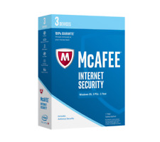 McAfee Internet Security 2019 3 Devices 1 Year Key / Install New / Renew License