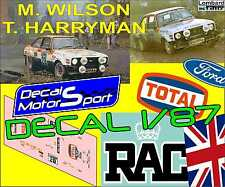 Decal calca 1/87 Ford Escort M. Wilson - T. Harryman Rally RAC 1979