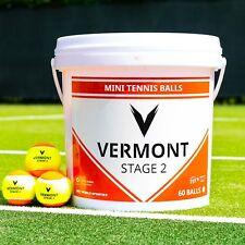Vermont Mini Arancione palline da tennis | STAGE 2 | 60 Ball capacità | ITF Approvato
